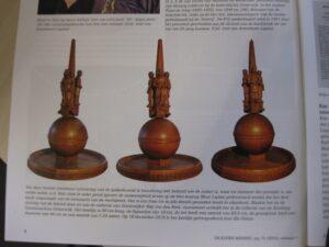 De houten replica van de gedenknaald. Bron: De Kleine Meijerij, jrg 71 (2020), nummer 1