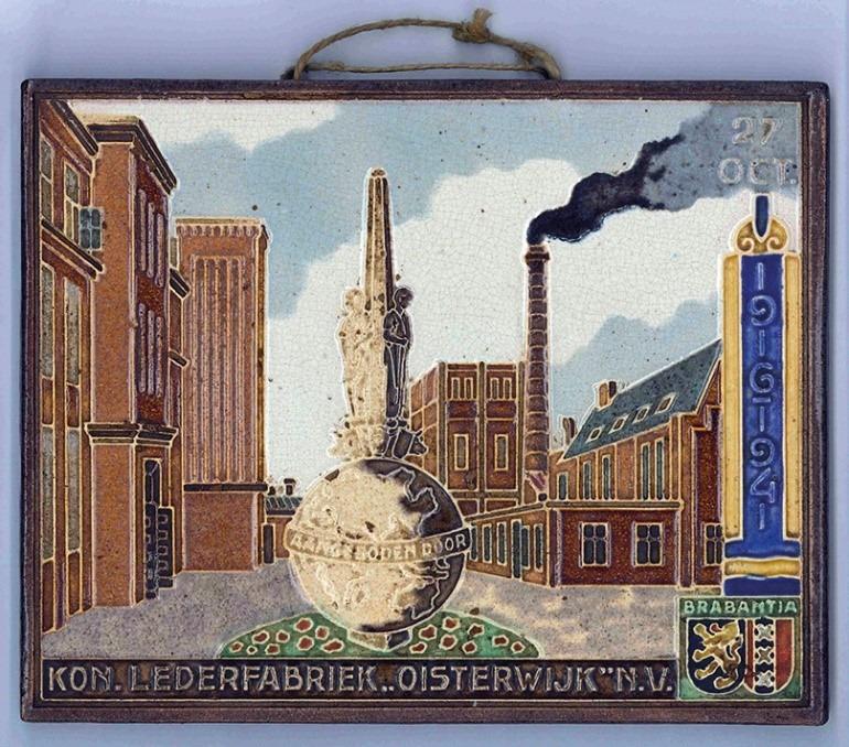 Het jubileumtegeltje. Bron: Oisterwijk in Beeld
